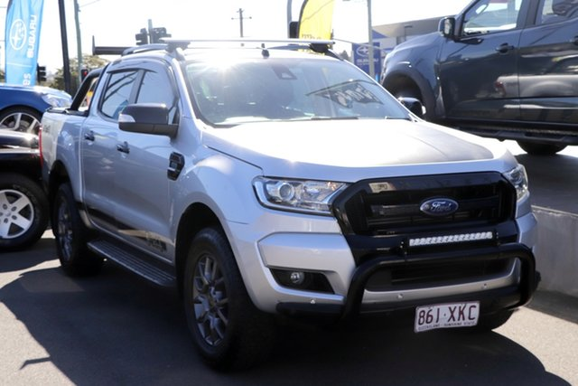 Used Ford Ranger PX MkII FX4 Double Cab Mount Gravatt, 2017 Ford Ranger PX MkII FX4 Double Cab Silver 6 Speed Sports Automatic Utility
