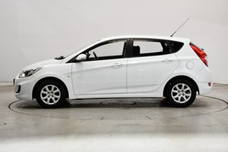 2012 Hyundai Accent RB Active Crystal White 5 Speed Manual Hatchback.