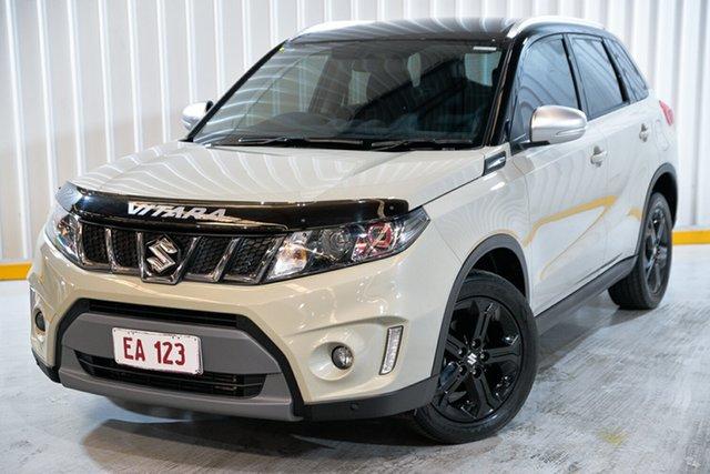 Used Suzuki Vitara LY S Turbo 2WD Hendra, 2016 Suzuki Vitara LY S Turbo 2WD White 6 Speed Sports Automatic Wagon