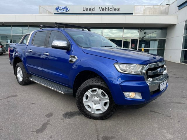 Used Ford Ranger PX MkII XLT Double Cab Essendon Fields, 2015 Ford Ranger PX MkII XLT Double Cab Blue 6 Speed Sports Automatic Utility