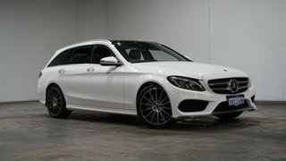 2017 Mercedes-Benz C-Class S205 807+057MY C250 Estate 9G-Tronic White 9 Speed Sports Automatic Wagon.