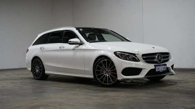 Used Mercedes-Benz C-Class S205 807+057MY C250 Estate 9G-Tronic Welshpool, 2017 Mercedes-Benz C-Class S205 807+057MY C250 Estate 9G-Tronic White 9 Speed Sports Automatic Wagon