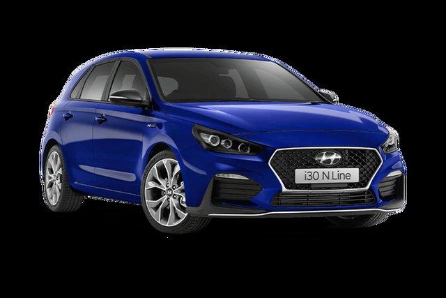 New Hyundai i30 PD.V4 MY21 N Line D-CT Hamilton, 2021 Hyundai i30 PD.V4 MY21 N Line D-CT Intense Blue 7 Speed Sports Automatic Dual Clutch Hatchback