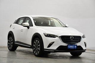 2020 Mazda CX-3 DK2W7A sTouring SKYACTIV-Drive FWD White 6 Speed Sports Automatic Wagon.