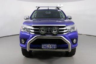 2016 Toyota Hilux GUN126R SR5 (4x4) Blue 6 Speed Manual Dual Cab Utility.