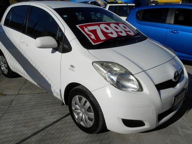 Used Toyota Yaris NCP90R MY11 YR Springwood, 2010 Toyota Yaris NCP90R MY11 YR White 5 Speed Manual Hatchback