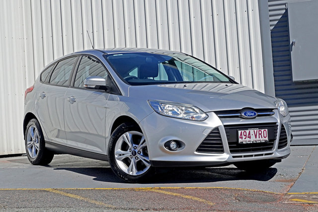 Used Ford Focus LW MkII Trend PwrShift Springwood, 2014 Ford Focus LW MkII Trend PwrShift Silver 6 Speed Sports Automatic Dual Clutch Hatchback