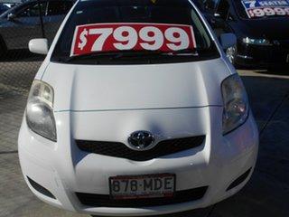 2010 Toyota Yaris NCP90R MY11 YR White 5 Speed Manual Hatchback.