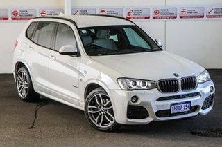 2017 BMW X3 F25 MY17 xDrive 20I White 8 Speed Automatic Wagon.