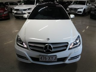 2013 Mercedes-Benz C-Class C204 MY13 C180 BlueEFFICIENCY 7G-Tronic + White 7 Speed Sports Automatic.