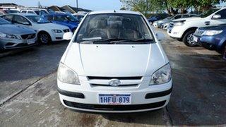 2004 Hyundai Getz TB MY04 GL White 4 Speed Automatic Hatchback.