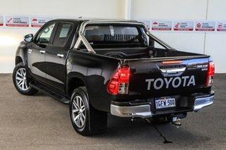2017 Toyota Hilux GUN126R SR5 (4x4) Eclipse Black 6 Speed Automatic Dual Cab Utility.