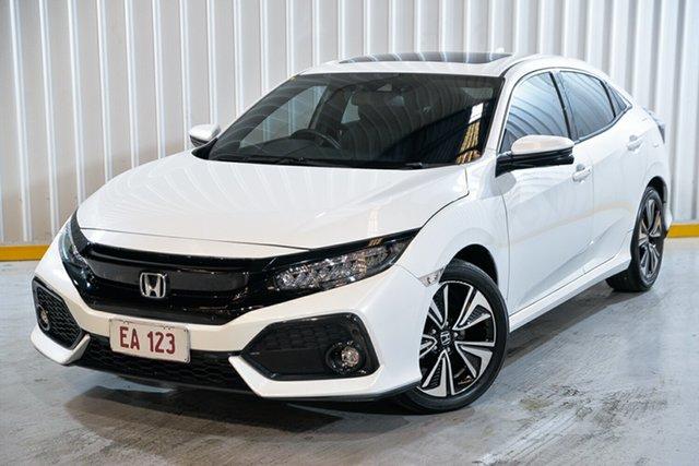 Used Honda Civic 10th Gen MY18 VTi-LX Hendra, 2018 Honda Civic 10th Gen MY18 VTi-LX White 1 Speed Constant Variable Hatchback