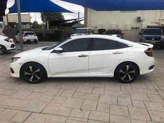 2016 Honda Civic 10th Gen MY16 RS White 1 Speed Constant Variable Sedan