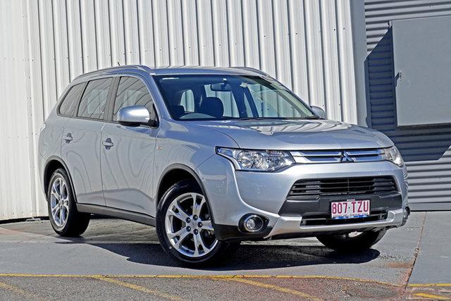 Used Mitsubishi Outlander ZJ MY14.5 ES 4WD Springwood, 2014 Mitsubishi Outlander ZJ MY14.5 ES 4WD Silver 6 Speed Constant Variable Wagon