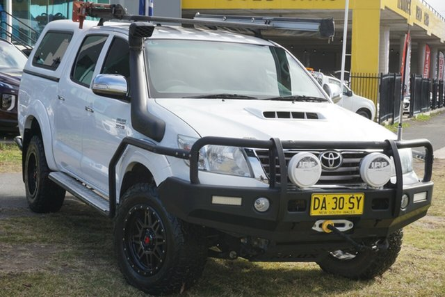 Used Toyota Hilux KUN26R MY14 SR5 Double Cab Phillip, 2014 Toyota Hilux KUN26R MY14 SR5 Double Cab White 5 Speed Manual Utility