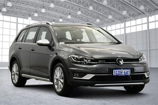 Used Volkswagen Golf 7.5 MY18 Alltrack DSG 4MOTION 132TSI Premium Victoria Park, 2018 Volkswagen Golf 7.5 MY18 Alltrack DSG 4MOTION 132TSI Premium Indium Grey 6 Speed