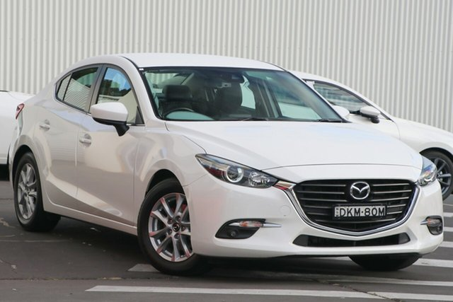 Used Mazda 3 BM5278 Touring SKYACTIV-Drive Wollongong, 2016 Mazda 3 BM5278 Touring SKYACTIV-Drive Snowflake White Pearl 6 Speed Sports Automatic Sedan