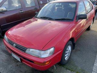 1994 Toyota Corolla AE101R CSi Seca Red 4 Speed Automatic Liftback.