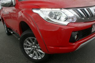 2015 Mitsubishi Triton MQ MY16 GLS Double Cab Red Solid 5 Speed Sports Automatic Utility.