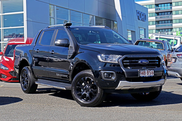 Used Ford Ranger PX MkIII 2020.25MY Wildtrak Springwood, 2020 Ford Ranger PX MkIII 2020.25MY Wildtrak Black 10 Speed Sports Automatic Double Cab Pick Up