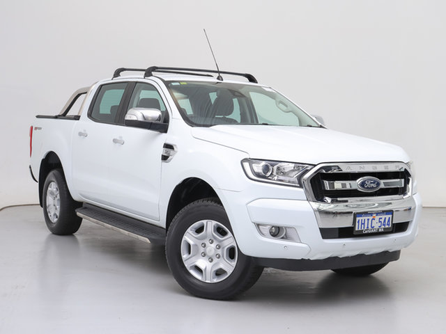 Used Ford Ranger PX MkII MY17 Update XLT 3.2 Hi-Rider (4x2), 2017 Ford Ranger PX MkII MY17 Update XLT 3.2 Hi-Rider (4x2) White 6 Speed Automatic Crew Cab Pickup