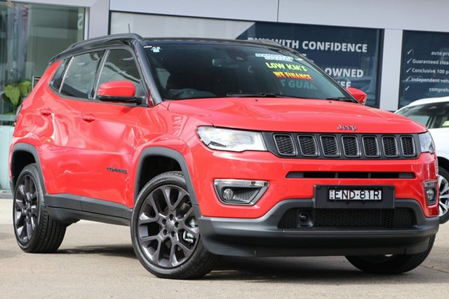 Used Jeep Compass M6 MY20 S-Limited Homebush, 2020 Jeep Compass M6 MY20 S-Limited Red 9 Speed Automatic Wagon