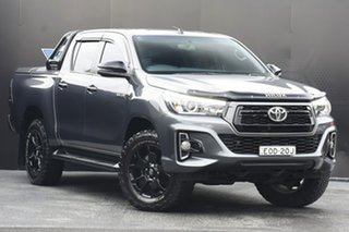 2018 Toyota Hilux GUN126R Rogue Double Cab Grey 6 Speed Sports Automatic Utility.