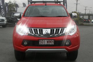 2015 Mitsubishi Triton MQ MY16 GLS Double Cab Red Solid 5 Speed Sports Automatic Utility