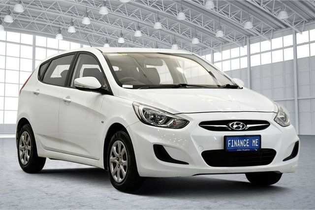 Used Hyundai Accent RB Active Victoria Park, 2012 Hyundai Accent RB Active Crystal White 5 Speed Manual Hatchback