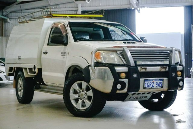 Used Toyota Hilux KUN26R MY08 SR Osborne Park, 2008 Toyota Hilux KUN26R MY08 SR White 4 Speed Automatic Cab Chassis