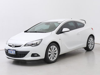 2015 Holden Astra PJ MY16 GTC White 6 Speed Automatic Hatchback.
