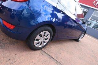 2015 Hyundai Accent RB3 MY16 Active Blue 6 Speed CVT Auto Sequential Hatchback
