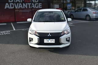 2021 Mitsubishi Mirage LB MY22 ES White 1 Speed Constant Variable Hatchback.