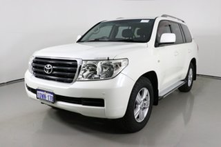2010 Toyota Landcruiser VDJ200R 09 Upgrade GXL (4x4) White 6 Speed Automatic Wagon.