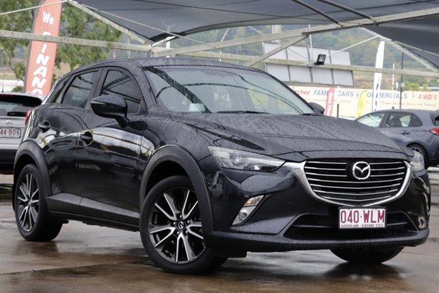 Used Mazda CX-3 DK4W7A sTouring SKYACTIV-Drive i-ACTIV AWD Bundamba, 2016 Mazda CX-3 DK4W7A sTouring SKYACTIV-Drive i-ACTIV AWD Jet Black 6 Speed Sports Automatic Wagon