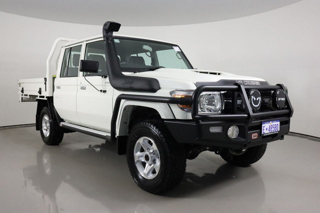 Used Toyota Landcruiser 70 Series VDJ79R GXL Bentley, 2020 Toyota Landcruiser 70 Series VDJ79R GXL White 5 Speed Manual Double Cab Chassis