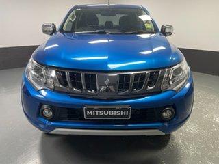 2018 Mitsubishi Triton MQ MY18 Exceed Double Cab Impulse Blue 5 Speed Sports Automatic Utility.
