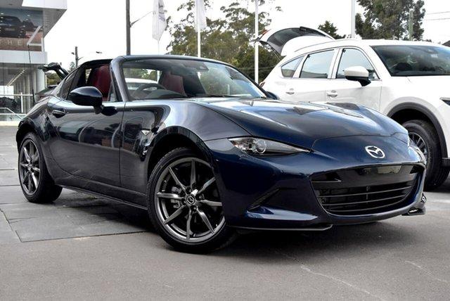 New Mazda MX-5 ND GT RF SKYACTIV-Drive Waitara, 2021 Mazda MX-5 ND GT RF SKYACTIV-Drive Blue 6 Speed Sports Automatic Targa