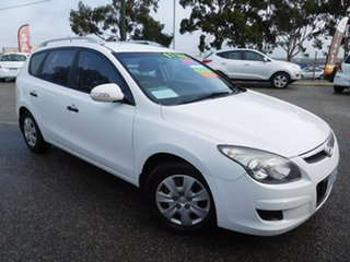2011 Hyundai i30 FD MY11 SX cw Wagon White 5 Speed Manual Wagon.