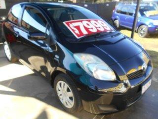 2009 Toyota Yaris NCP90R MY09 YR Black 5 Speed Manual Hatchback.