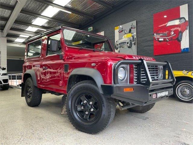 Used Land Rover Defender Glebe, 2014 Land Rover Defender 90 Red Manual Wagon