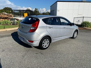 2011 Hyundai Accent RB Active Silver 4 Speed Automatic Hatchback