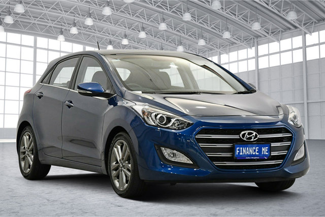 Used Hyundai i30 GD3 Series II MY16 Premium DCT Victoria Park, 2015 Hyundai i30 GD3 Series II MY16 Premium DCT Dazzling Blue 7 Speed Sports Automatic Dual Clutch