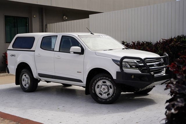 Used Holden Colorado RG MY17 LS Pickup Crew Cab Cairns, 2017 Holden Colorado RG MY17 LS Pickup Crew Cab White 6 Speed Sports Automatic Utility