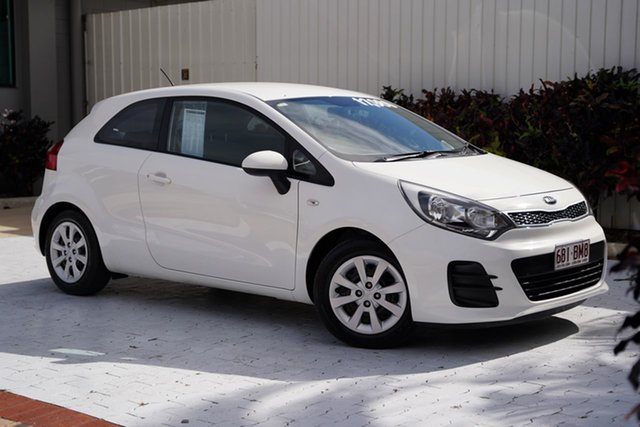 Used Kia Rio UB MY16 S Cairns, 2016 Kia Rio UB MY16 S White 4 Speed Sports Automatic Hatchback