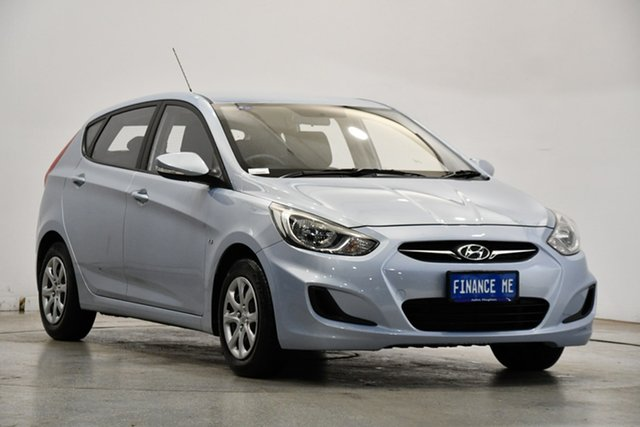 Used Hyundai Accent RB Active Victoria Park, 2011 Hyundai Accent RB Active Clean Blue 4 Speed Sports Automatic Hatchback