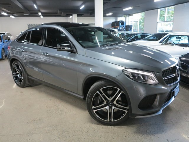 Used Mercedes-Benz GLE-Class C292 MY809 GLE43 AMG Coupe 9G-Tronic 4MATIC Albion, 2018 Mercedes-Benz GLE-Class C292 MY809 GLE43 AMG Coupe 9G-Tronic 4MATIC Grey 9 Speed