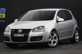 2008 Volkswagen Golf V MY08 GTi Silver 6 Speed Manual Hatchback.