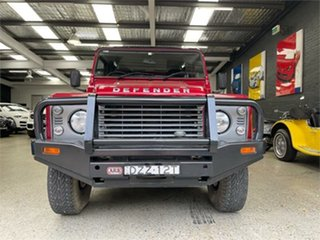 2014 Land Rover Defender 90 Red Manual Wagon.